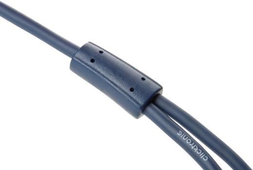 Jack / RCA Audio Csatlakozókábel [1x Jack dugó, 3,5 mm-es - 2x RCA dugó] 7.50 m Kék aranyozott érintkező clicktronic