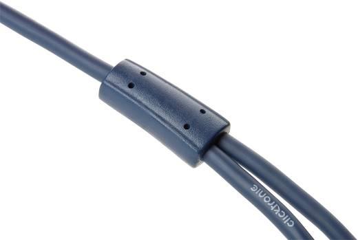 Jack - RCA audio kábel, 1x 3,5 mm jack dugó - 2x RCA dugó, 15 m, aranyozott, kék, Clicktronic 1171943