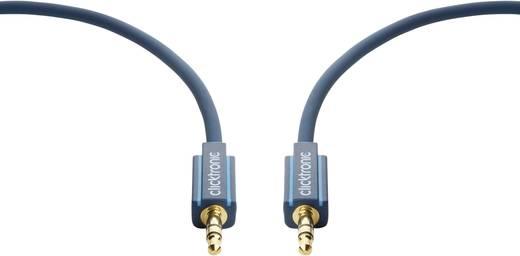 Jack Audio Csatlakozókábel [1x Jack dugó, 3,5 mm-es - 1x Jack dugó, 3,5 mm-es] 5 m Kék aranyozott érintkező clicktronic