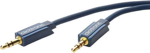 Jack audio kábel, 1x 3,5 mm jack dugó - 1x 3,5 mm jack dugó, 10 m, aranyozott, kék, Clicktronic 1171949
