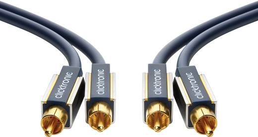 RCA Audio Csatlakozókábel [2x RCA dugó - 2x RCA dugó] 3 m Kék aranyozott érintkező clicktronic