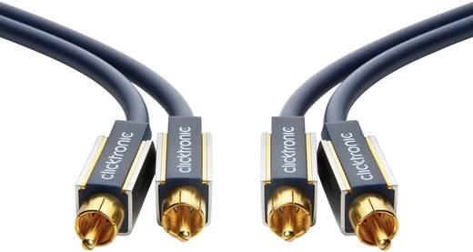 RCA Audio Csatlakozókábel [2x RCA dugó - 2x RCA dugó] 15 m Kék aranyozott érintkező clicktronic