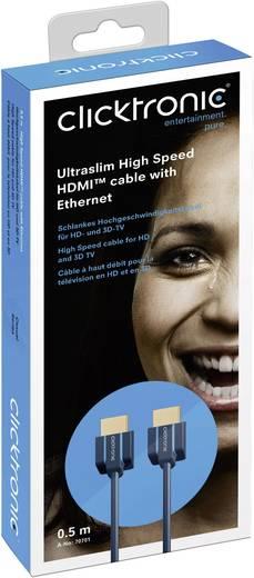 HDMI kábel [1x HDMI dugó - 1x HDMI dugó] 1,5 m Kék 3840 x 2160 pixel clicktronic 70703