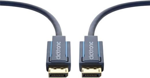 Kijelző csatlakozó Csatlakozókábel [1x DisplayPort dugó - 1x DisplayPort dugó] 5 m Kék 3840 x 2160 pixel clicktronic