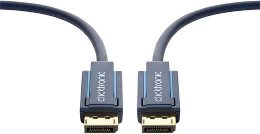 Kijelző csatlakozó Csatlakozókábel [1x DisplayPort dugó - 1x DisplayPort dugó] 7.50 m Kék 3840 x 2160 pixel clicktronic