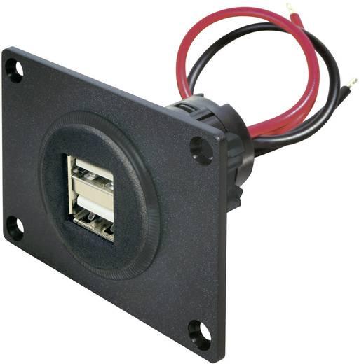 Beépíthető kettős USB alj 38,5 mm, max. 5 A, USB-A, ProCar