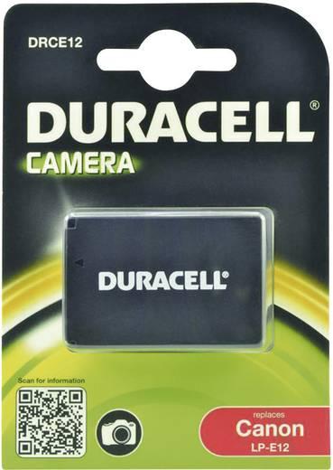 Kamera akku Duracell Megfelelő eredeti akku LP-E12 7.4 V 800 mAh