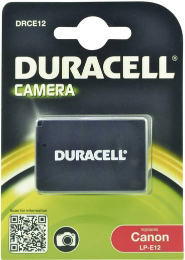 LP-E12 Canon kamera akku 7,4V 800 mAh, Duracell
