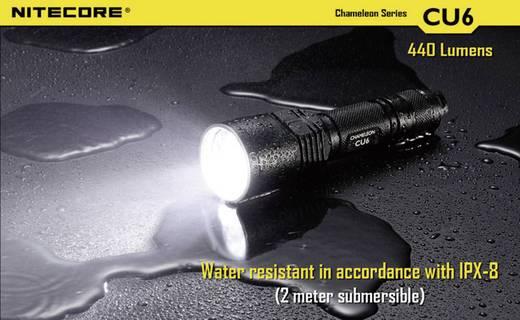 UV-LED-es zseblámpa, elemes, 440 lm, fekete, NiteCora CU6