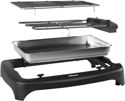 Asztali elektromos grillsütő, manuális hőmérséklet beállítással, fekete, Tristar BQ-2814