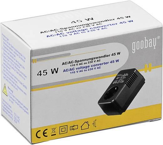 Feszültségátalakító AC/AC, 110-ról 230 V-ra, 45 W, Goobay SPW MW 1P045FV