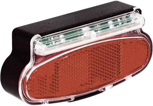 LED-es kerékpár hátsó lámpa, dinamóhoz, piros/fekete, proFEX 65002