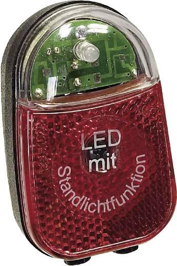 LED-es kerékpár hátsó lámpa, dinamóhoz, piros/fekete, proFEX 65001
