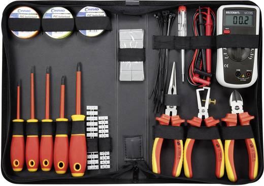 VDE villanyszerelő szerszámkészlet, multiméterrel, 50 részes készlet Toolcraft
