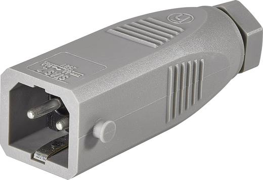 Hálózati csatlakozó dugó, egyenes, pólusszám: 2 + PE 16 A, szürke, Belden STAS 2