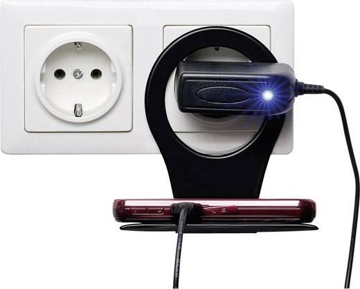 Telefontartó konzol, konnektorra akasztható tartó, fekete, Goobay 55355