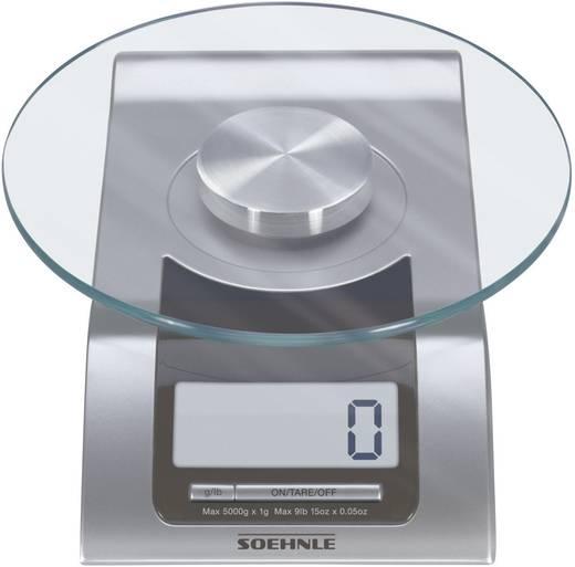 Digitális konyhai mérleg, ezüst/fekete, Soehle Style 65105