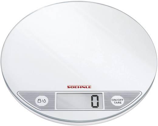 Digitális konyhai mérleg, fehér, Soehle Flip 66160