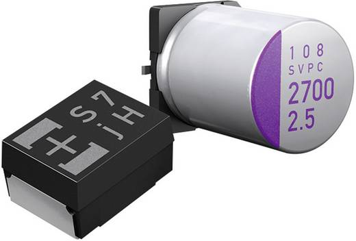 Elektrolit kondenzátor SMT 10 µF 10 V/DC 20 % (Ø x Ma) 4 mm x 5.5 mm Panasonic 10SVP10M 1 db