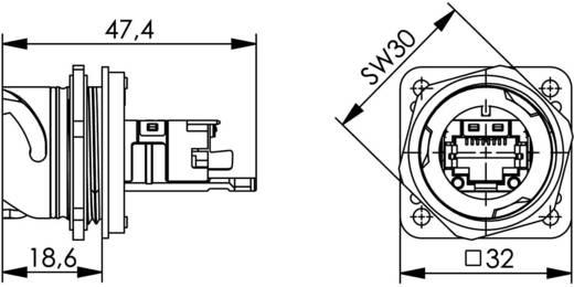 STX V1 RJ45 peremes készlet fém változat 1 vázalj, beépíthető Pólus: 8P8C STX V1 fém Telegärtner Tartalom: 1 db