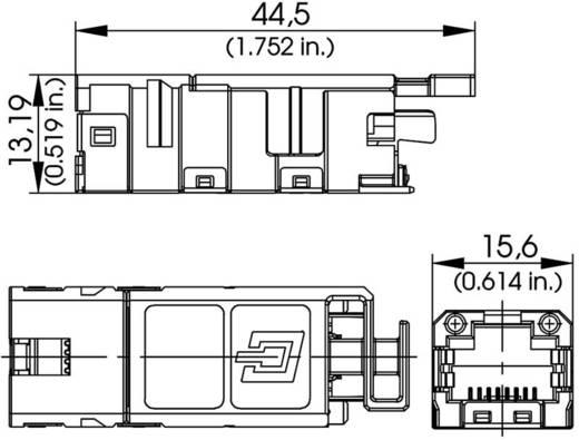 STX V1 RJ45 modulbetét Cat.6A alj, egyenes Pólus: 8P8C Telegärtner J80029A0000
