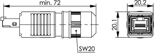 RJ45 dugókészlet változat 4 dugó, egyenes Pólus: 8P8C J80026A0015 fekete Telegärtner Tartalom: 1 db