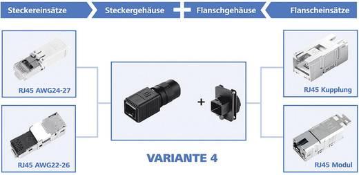 Dugaszolható ház változat 4 H86011B0011 fekete Telegärtner Tartalom: 1 db