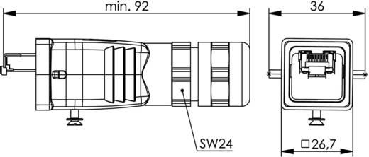 STX V5 RJ45 dugókészlet, 5-ös változat, egyenes Pólus: 8P8C alumínium Telegärtner J80026A0017