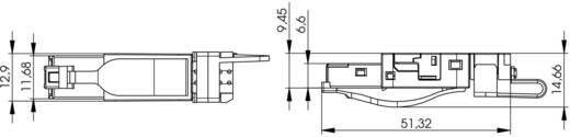 STX RJ45 dugó, egyenes Pólus: 8P8C STX Telegärtner Tartalom: 1 db
