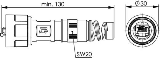 STX V1 RJ45 dugókészlet, műanyag, 1 dugó, egyenes Pólus: 8P8C fekete Telegärtner J80026A0010