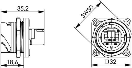 STX V1 RJ45 dugókészlet műanyag változat, 1 csatlakozóaljzat, beépíthető Pólus: 8P8C STX V1 fekete Telegärtner