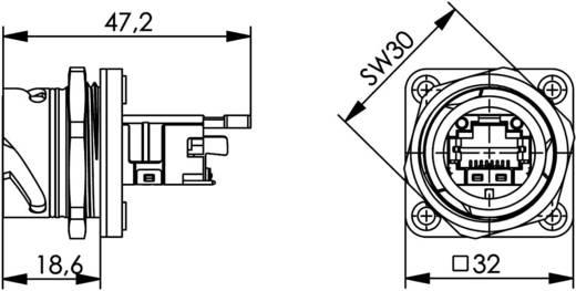 STX V1 RJ45 dugókészlet műanyag változat 1 vázalj, beépíthető Pólus: 8P8C STX V1 fekete Telegärtner Tartalom: 1 db