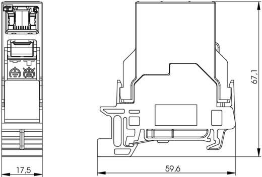 Berendezéstartó sín összekötő RJ45 csatlakozóaljzat, beépíthető Pólus: 8P8C, élénk szürke, Telegärtner J80023A0003