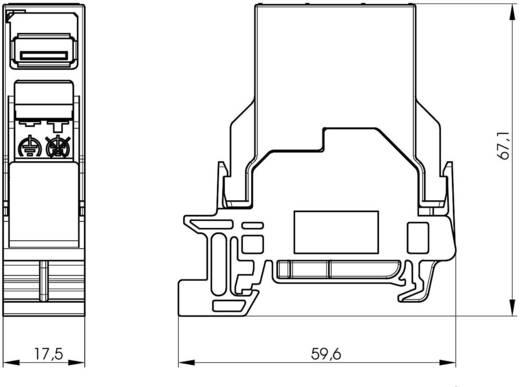 Berendezéstartó sín összekötő USB 2.0 csatlakozóaljzat, beépíthető J80023A0004 élénk szürke Telegärtner Tartalom: 1 db