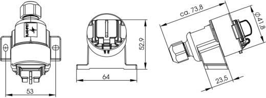 RJ45 csatlakozódoboz változat 6 alj, egyenes Pólus: 8P8C J00020A0436 élénk szürke Telegärtner Tartalom: 1 db