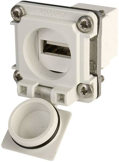 Beépíthető USB csatlakozó aljzat, világosszürke, Telegärtner J00020A0480 Variante 6