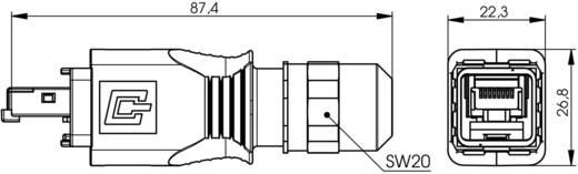 RJ45 dugókészlet változat 14 dugó, egyenes Pólus: 8P8C J80026A0021 fém Telegärtner Tartalom: 1 db