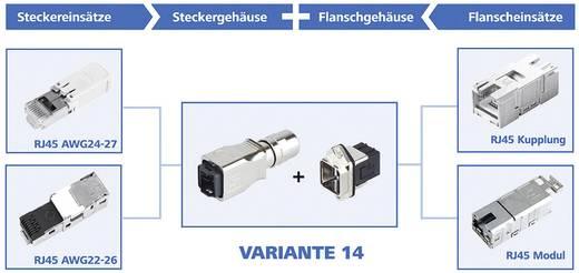 RJ45 peremes készlet változat 14 vázalj, beépíthető Pólus: 8P8C J80020A0011 fém Telegärtner Tartalom: 1 db