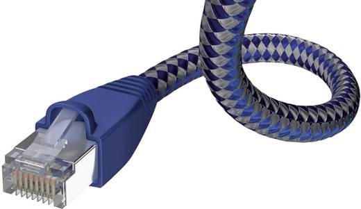 RJ45-ös patch kábel, hálózati LAN kábel CAT 6 S/FTP [1x RJ45 dugó - 1x RJ45 dugó] 3m kék, ezüst színű Inakustik 1180599
