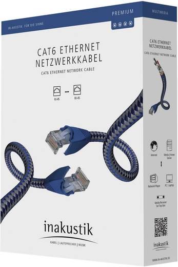 RJ45-ös patch kábel, hálózati LAN kábel CAT 6 S/FTP [1x RJ45 dugó - 1x RJ45 dugó] 2m kék, ezüst színű Inakustik 1180598