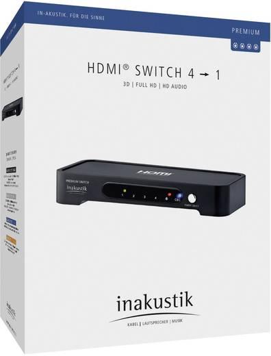 4 portos HDMI switch, közösítő szelektor 4bemenet - 1kimenet Inakustik Premium 1180607