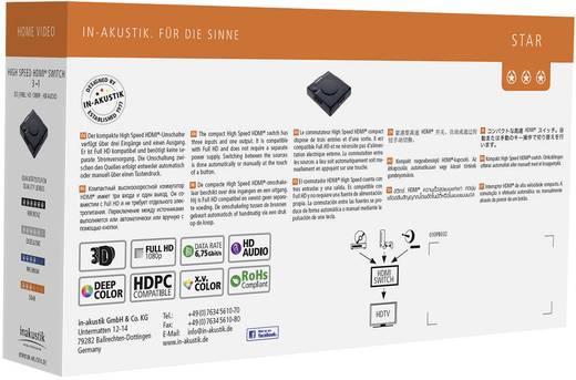 3 portos HDMI switch, közösítő szelektor 3bemenet - 1kimenet Inakustik Star 1180613