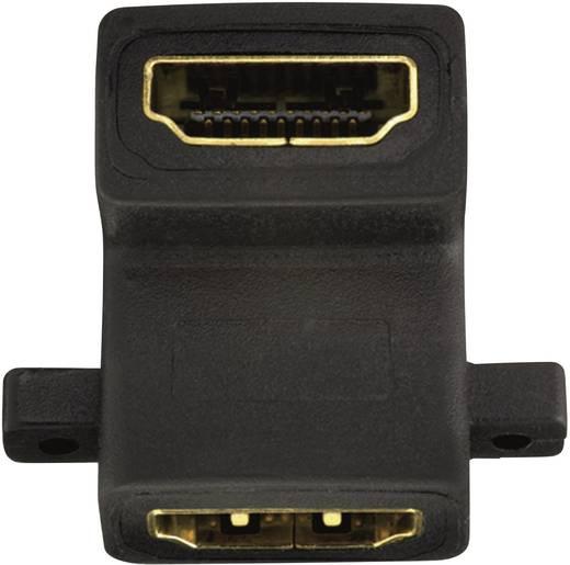 HDMI könyökcsatlakozó adapter 2db HDMI aljzat Inakustik 1180615