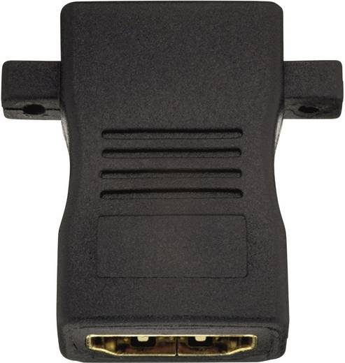 HDMI közösítő adapter, 1x HDMI aljzat - 1x HDMI aljzat, aranyozott, fekete, Inakustik
