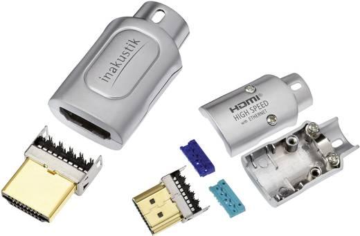 HDMI dugaszolós csatlakozó dugó, egyenes ezüst Inakustik 1 db