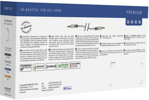 Jack audio kábel, 1x 3,5 mm jack dugó - 1x 3,5 mm jack dugó, 0,75 m, aranyozott, fehér/ezüst, Inakustik 1180649