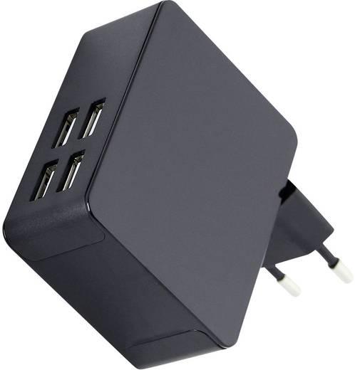 USB-s töltőkészülék, max. 5000 mA, 4 kimenet, HN Power HNP25-4USB-C