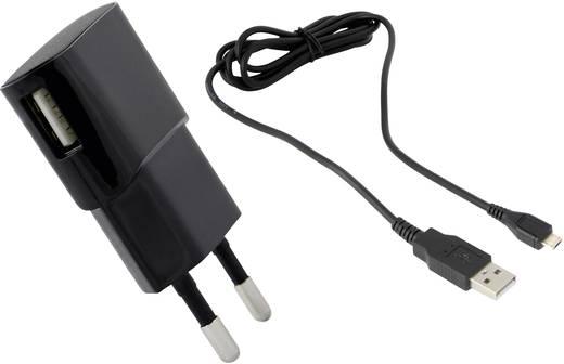 Hálózati USB-s töltő, mikro USB töltő, max. 1200 mA, HN Power HNP06-USBV2-SET1-BLACK-C