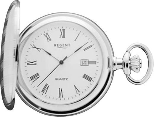 Analóg zsebóra, kvarc, ezüst, Ø 45 mm, Regent P 442 11380015