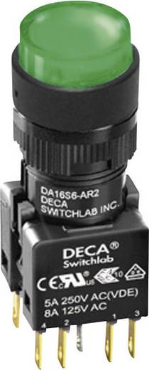 Nyomógomb 250 V/AC 5 A 2 x KI/(BE) DECA ADA16S6-MR1-A2JG IP65 Nyomó 1 db